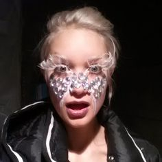 Paint on Bejeweled mask  By Bre Lembitz