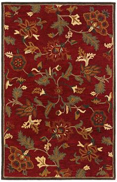 Botanique 1180 Morgan Crimson Floral Area Rug -