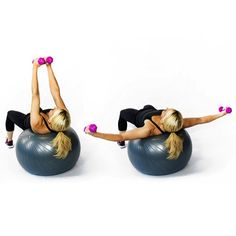Chest Fly on Stability Ball   Skinny Mom   Where Moms Get The Skinny On Healthy Living