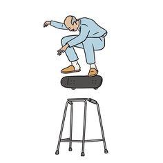 For More Longboard Skateboard grandfather Matt Blease, Art Sketches, Art Drawings, Desenho Tattoo, Dope Art, Skateboard Art, Skateboards, Street Art, Illustration Art