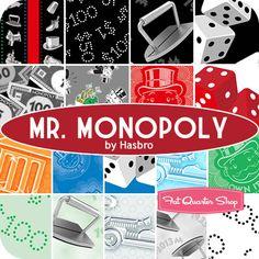 Mr. Monopoly Fat Quarter Bundle Hasbro for Quilting Treasures