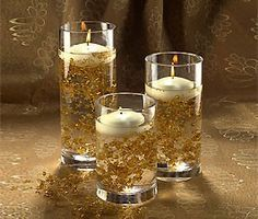 centerpieces with black and gold - Google Search