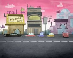 backgrounds and Environment by khalid sadaqa, via Behance