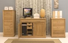 buy mobel oak hidden home office computer desk from oak furniture house with free delivery