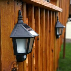 LampLust Solar Outdoor Fence Lights - LED Security Wall Lights with Motion Sensor, Black Exterior, Waterproof, Dawn to Dusk, Set of 2 Solar Garden Lanterns, Solar Pathway Lights, Solar Wall Lights, Solar Lamp, Fence Lighting, Backyard Lighting, Outdoor Wall Lighting, Lighting Ideas, Outdoor Lantern