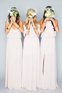 romantic bridesmaid dress idea; Via Show Me Your Mumu