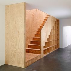 Multiplex - Triplex - Fineer | Woodtex Loft Railing, Atelier Design, Cellar Design, Sliding Wall, Bothy, Micro House, Bar Interior, Stair Storage, House Stairs