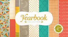 Yearbook from Studio Calico!  LOVE this!  Great papers for school pages in nontraditional colors!!!
