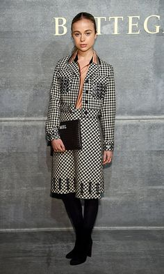 Also on the guest list at Bottega Veneta was Prince William's royal cousin Lady Amelia Windsor.