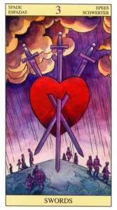 Tarot of the new vision 3 of swords