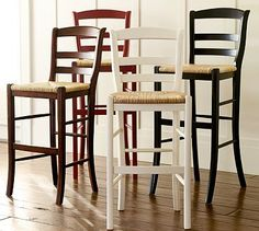 With Their Curved Backs And Woven Rush Seats Our Isabella Barstools Offer Comfortable Seating At A Kitchen Counter Or Bar