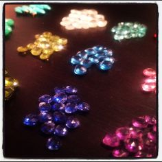 Color stories for chandelier earrings.... Aquarian Thoughts...