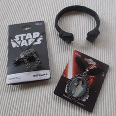 Women's Star Wars necklaces and bracelet