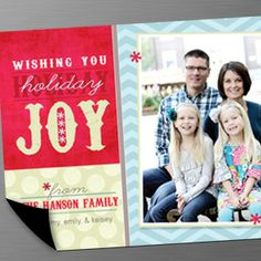 4x6 holiday card magnets - LOVE these!