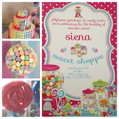 Sweet Shoppe Birthday Party Candy Party