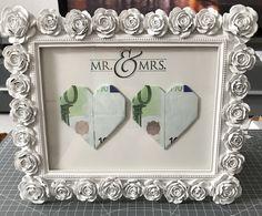 Geldgeschenk mit Rahmen für Hochzeit