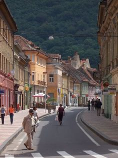 {brasov, romania Travel makes me so inspired. I can't wait for this year's trip to Brasov, so my little Sosi can see her Tiku! Great Places, Places Ive Been, Beautiful World, Beautiful Places, Brasov Romania, Wanderlust Travel, Travel Pictures, Street View, Explore