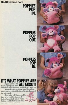 The struggle of trying to get your Popple into his ball shape. | 53 Things Only '80s Girls Can Understand  @Elaine Hwa Hwa Hwa Hwa Hwa Johnson