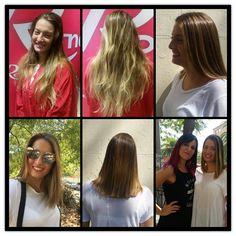 Silvia se decide a cortar su melena y apostar por un look más actual para el otoño con este balayage. #estilistas #ronco #moda #peluqueros #color #creacion #hair #balayage #freelights #damoscoloralavida