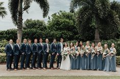 24 New Ideas Wedding Inspiration Blue Navy Steel Blue Weddings, Navy Blush Weddings, Blue And Blush Wedding, Blue Suit Wedding, Wedding Navy, Dream Wedding, Steel Blue Bridesmaid Dresses, Dusty Blue Bridesmaid Dresses, Blue Groomsmen Suits