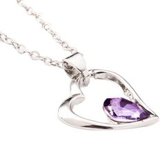Crystal Heart Necklace (Multiple Colors Available)