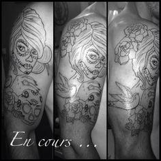 Premier tattoo ! Fier de moi :) en cour de réalisation #tattooartist