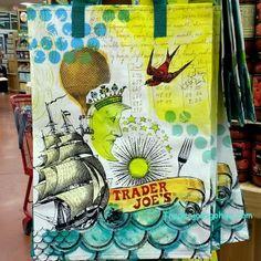 Trader Joe's Reusable Shopping Tote $.99 トレーダージョーズ ショッピングトート  #traderjoes #shoppingtote #bag