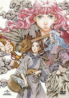 陽子 Youko、鈴 Suzu、祥瓊 Shoukei:十二国記 Juuni Kokki/Twelve Kingdoms - art by Yamada Akihiro 山田章博