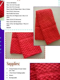 Knit kitchen towel pattern – Cute and Trend Towel Models Knitted Dishcloth Patterns Free, Knitted Washcloths, Crochet Dishcloths, Knitting Patterns Free, Knit Patterns, Easy Knitting, Loom Knitting, Knitting Stitches, Knitting Designs