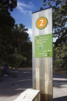 Taronga Zoo, Sydney, Australia⊚ pinned by www.megwise.it #megwise #environmentalgraphics #signage