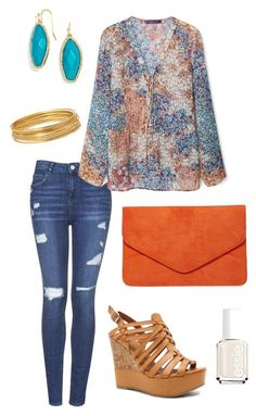 """""""Untitled #458"""" by kmysoccer on Polyvore featuring Topshop, Violeta by Mango, Dorothy Perkins, Bold Elements, BaubleBar, Essie and Qupid"""