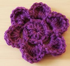 Crochet Flowers Easy Ravelry: Easy Crochet Flower Pattern pattern by Jayna Grassel - Crochet Puff Flower, Crochet Bows, Knitted Flowers, Crochet Flower Patterns, Love Crochet, Crochet Motif, Crochet Crafts, Yarn Crafts, Fabric Flowers
