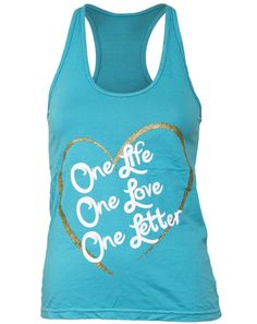 shirt idea? one life, two loves, three letters and sigma phi lambda on the back