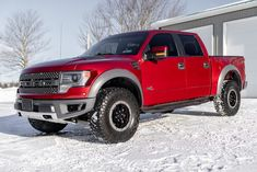 This 2014 Ford F-150 SuperCrew SVT Raptor Special Edition is finished in Ruby Red Metallic over two-tone leather and powered by a 6.2-liter V8 paired with a six-speed automatic transmission and a dual-range transfer case. Additional equipment includes Fox Racing internal-bypass shocks, Torsen front and electronically-locking rear axles with 4.10:1 gears, and hill descent control. The optional Raptor Special Edition and Luxury Packages add HID headlights, navigation, two cameras… Arch Molding, Factory Five, Svt Raptor, Fiat 600, Ford, Tribute, Hid Headlights, Datsun 240z, Rear Differential
