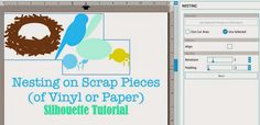 Silhouette Studio Tutorial: How to Nest on Scrap Vinyl Pieces (or other Material) ~ Silhouette School
