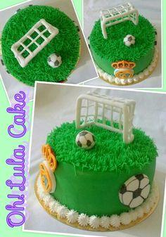 Soccer Cakes, Soccer Ball Cake, Sport Cakes, Cupcake Party, Birthday Cupcakes, Cupcake Cakes, Hombre Cake, Football Birthday, Sweet Bakery
