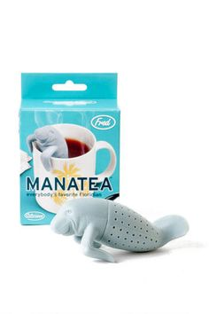 The Manatea Silicone Tea Infuser is the perfect companion for your afternoon tea! Just load his little silicone tail with your favorite tea blend, place him in your cup, watch him relax, and enjoy your cup! Womens Clothing Stores, Online Clothing Stores, Buy Tea, My Cup Of Tea, Home Gifts, Inventions, Tea Time, Just In Case, Tea Party