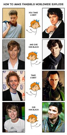 :O well this is spot-on. take a Brit, dye him black. or brown. or ginger, because ohmydalek a ginger Hiddles is one of the best things ever.