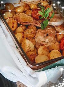 Greek Recipes, Potato Salad, Potatoes, Meat, Chicken, Ethnic Recipes, Food, Potato, Essen