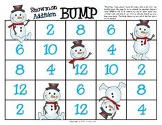 This is a FUN game for your students to practice adding doubles! In this game, students practice their fluency with addition doubles facts 1 thr. Kindergarten Math Games, Math Classroom, Fun Math, Math Activities, Winter Activities, Classroom Ideas, Therapy Activities, Addition Games For Kindergarten, Teaching Math