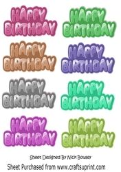 Funky Birthday Tags  set 2  on Craftsuprint - View Now!