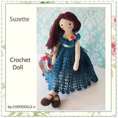 CROCHET DOLL Finished doll collectible doll by chepidolls on Etsy