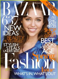 Miley Cyrus - Harpers Bazaar Magazine [United States] (February 2010)