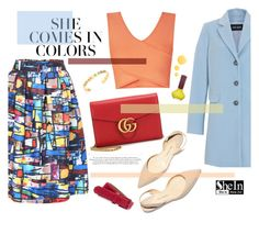 """""""She comes in colors"""" by pau-rosa ❤ liked on Polyvore featuring Paul Andrew, Gucci, Gerry Weber, BCBGMAXAZRIA, Lacoste, Tory Burch, Paul & Joe Beaute and Topshop"""
