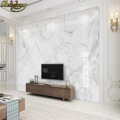 Online Shop Bacaz Abstract Texture Marble Wallpaper Murals for Living room Background Marble Wall paper Murals Wall sticker Grey Wallpaper Living Room, Living Room Background, Living Room Bedroom, Wall Wallpaper, Living Room Decor, Photo Wallpaper, Fabric Wallpaper, Marble Wall, White Marble