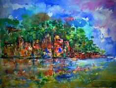 Trading Post by the Orinoco River, by Comesanas