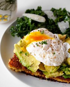 Resistant starch recipes Fried Polenta, Avocado and Poached Egg Breakfast