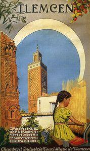 Tlemcen Algeria Arabic Arab  Travel Vintage Poster