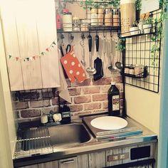 Kitchen/ダイソー/ナチュラル/100均/DIY/一人暮らし...などのインテリア実例 - 2016-01-31 14:18:15