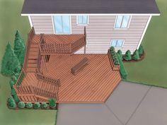 Grafton Split-Level Deck  from houseplansandmore.com